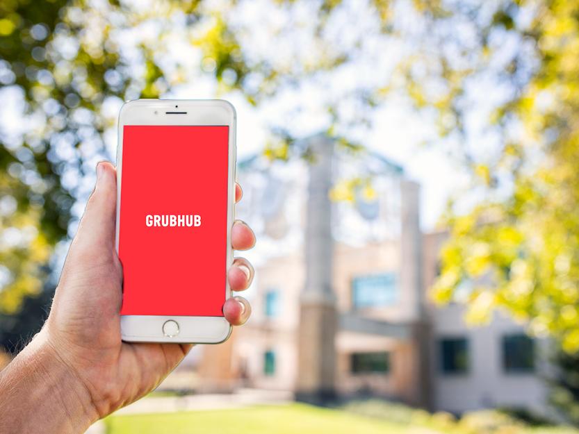 Grubhub app on iphone